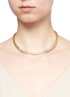 Kenneth Jay LaneGlass crystal collar necklace