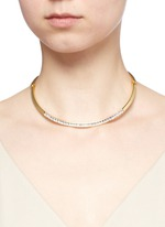 Glass crystal collar necklace
