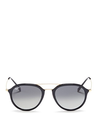 Main View - Click To Enlarge - Ray-Ban - 'RB4253' metal temple acetate aviator sunglasses