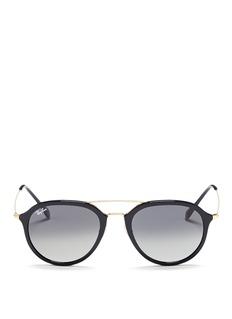 Ray-Ban'RB4253' metal temple acetate aviator sunglasses