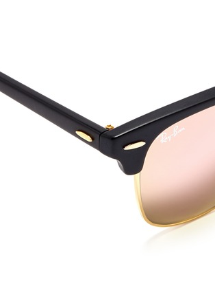 Detail View - Click To Enlarge - Ray-Ban - Clubmaster Folding' acetate browline sunglasses