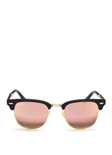 Ray-Ban 'Clubmaster Folding'  acetate browline sunglasses