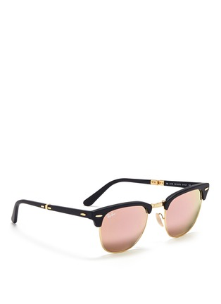 Figure View - Click To Enlarge - Ray-Ban - Clubmaster Folding' acetate browline sunglasses