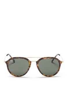 Ray-Ban 'RB4253' metal temple tortoiseshell acetate aviator sunglasses