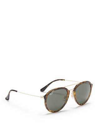 Ray-Ban - 'RB4253' metal temple tortoiseshell acetate aviator sunglasses