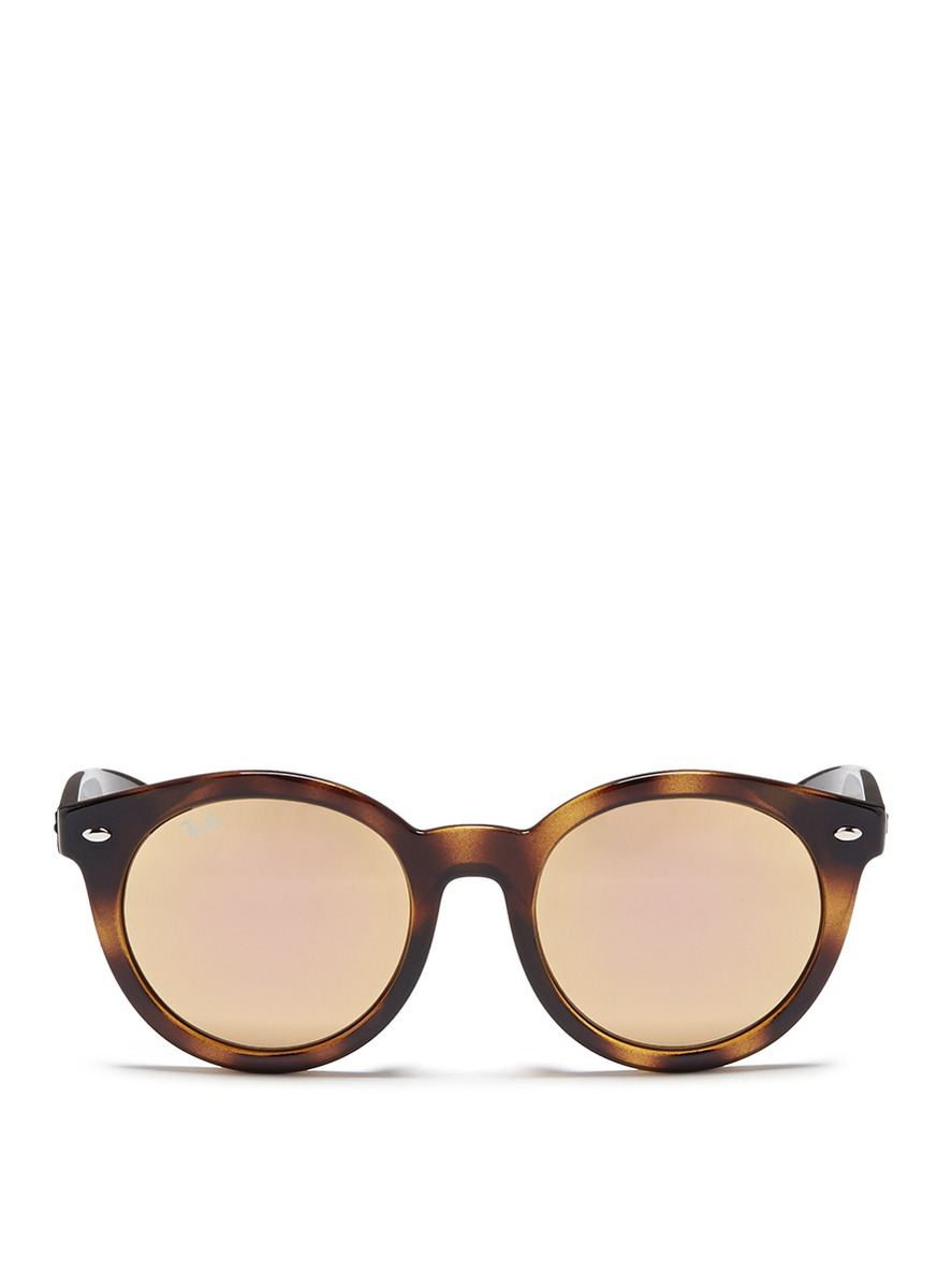 RB4261 tortoiseshell acetate mirror sunglasses by Ray-Ban