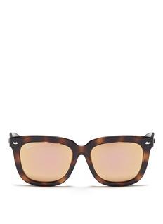 Ray-Ban'RB4262' square tortoiseshell acetate mirror sunglasses