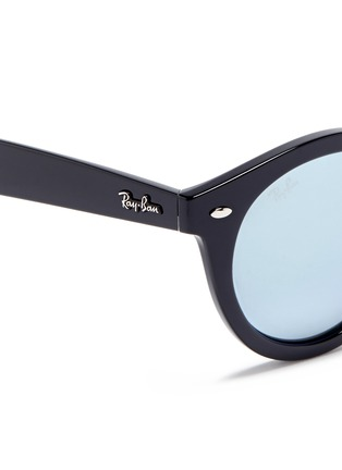Detail View - Click To Enlarge - Ray-Ban - 'RB4261' round acetate mirror sunglasses