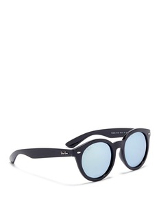 Ray-Ban 'RB4261' round acetate mirror sunglasses