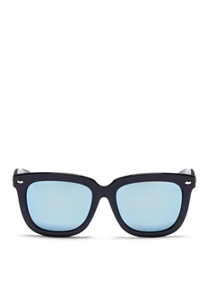 Ray-Ban 'RB4262' square acetate mirror sunglasses