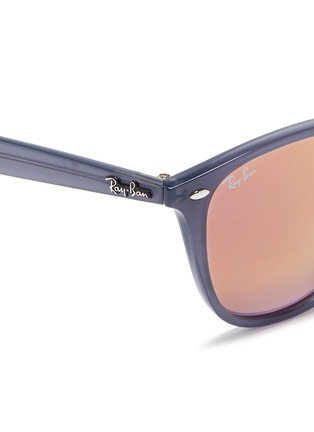 Detail View - Click To Enlarge - Ray-Ban - 'RB4258' acetate square mirror sunglasses