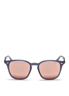 Ray-Ban 'RB4258' acetate square mirror sunglasses