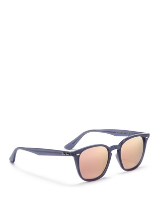 Figure View - Click To Enlarge - Ray-Ban - 'RB4258' acetate square mirror sunglasses