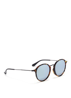 Ray-Ban 'Round Fleck Flash' tortoiseshell acetate mirror sunglasses