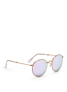 RAY-BAN 'Round Metal Folding' mirror sunglasses