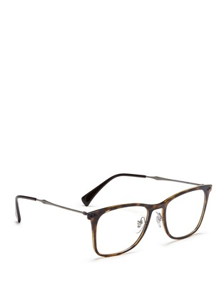 Figure View - Click To Enlarge - Ray-Ban - 'RX7086 Light Ray' titanium temple tortoiseshell optical glasses
