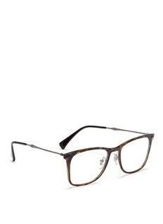 Ray-Ban 'RX7086 Light Ray' titanium temple tortoiseshell optical glasses