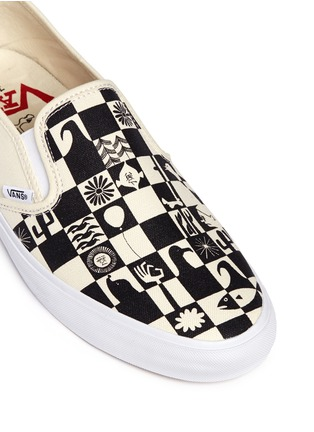 Detail View - Click To Enlarge - Vans - x Yusuke Hanai check print canvas slip-ons