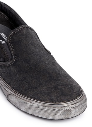 Detail View - Click To Enlarge - Vans - 'Classic' washed paisley print skate slip-ons
