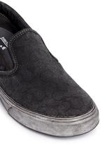 'Classic' washed paisley print skate slip-ons