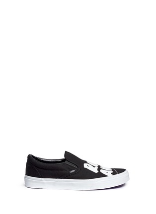 Main View - Click To Enlarge - Vans - x Baron Von Fancy 'Classic' canvas skate slip-ons