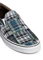 'Classic' plaid patchwork skate slip-ons