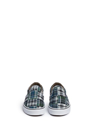 Front View - Click To Enlarge - Vans - 'Classic' plaid patchwork skate slip-ons