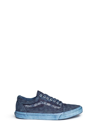 Main View - Click To Enlarge - Vans - 'Old Skool Reissue' washed paisley print sneakers