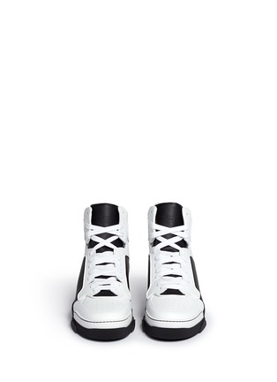 Front View - Click To Enlarge - Givenchy - 'Tyson II' leather high top sneakers