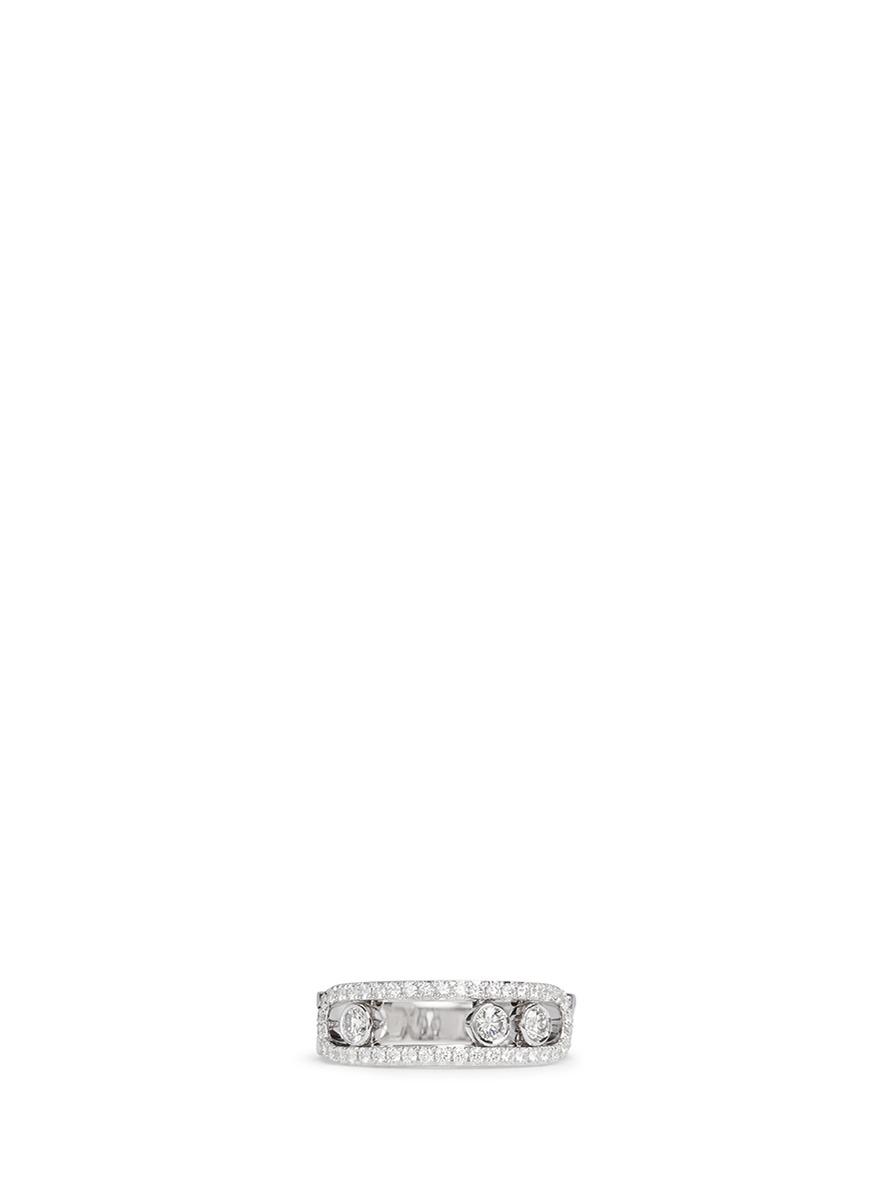 Move Paveé diamond 18k white gold ring by Messika