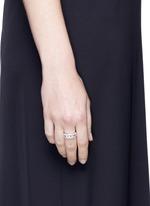 'Move Paveé' diamond 18k white gold ring