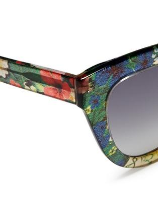 Detail View - Click To Enlarge - Linda Farrow Designers Collection - x Erdem floral garden print acetate cat eye sunglasses