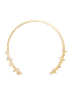 JOOMI LIM 'Love Thorn' faux pearl spike torque necklace