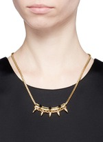 'Love Thorn' crystal spike bar chain necklace