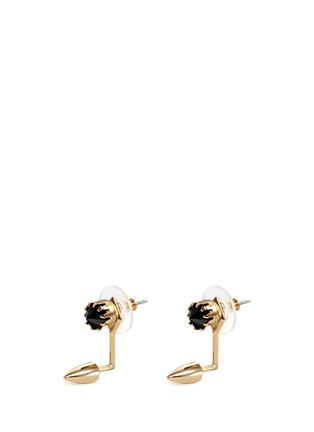 Main View - Click To Enlarge - Joomi Lim - 'Love Thorn' crystal floating spike stud earrings
