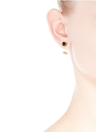 Figure View - Click To Enlarge - Joomi Lim - 'Love Thorn' crystal floating spike stud earrings