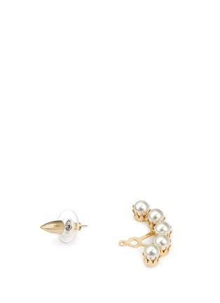Detail View - Click To Enlarge - Joomi Lim - 'Love Thorn' faux pearl spike stud deco earrings