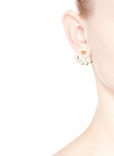 JOOMI LIM'Love Thorn' faux pearl spike stud deco earrings