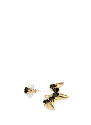 Detail View - Click To Enlarge - Joomi Lim - 'Love Thorn' Swarovski crystal spike stud earrings