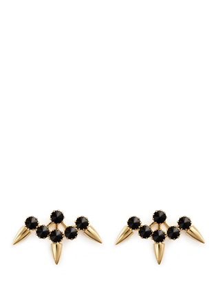 Main View - Click To Enlarge - Joomi Lim - 'Love Thorn' Swarovski crystal spike stud earrings