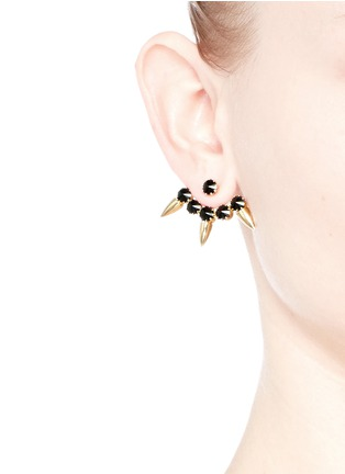 Figure View - Click To Enlarge - Joomi Lim - 'Love Thorn' Swarovski crystal spike stud earrings