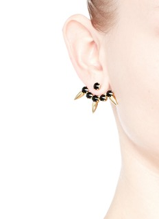JOOMI LIM 'Love Thorn' Swarovski crystal spike stud earrings