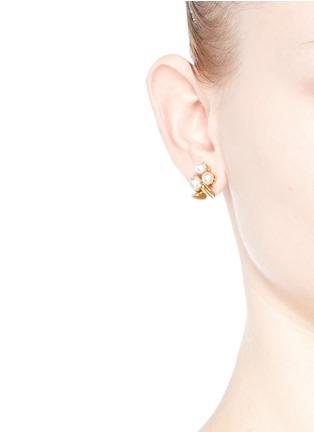 Figure View - Click To Enlarge - Joomi Lim - 'Love Thorn' faux pearl spike stud earrings