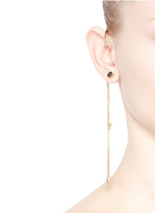 Figure View - Click To Enlarge - Joomi Lim - 'Love Thorn' ear cuff crystal spike stud earring set