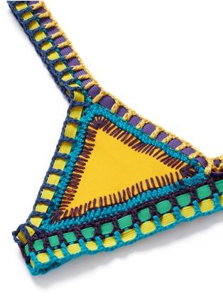 Detail View - Click To Enlarge - Kiini - 'Ro' hand crochet triangle bikini top