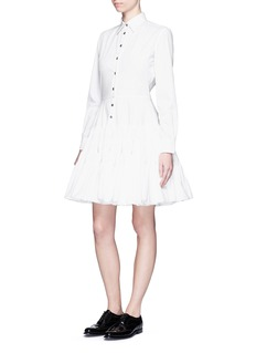 JOURDENGathered skirt poplin shirt dress