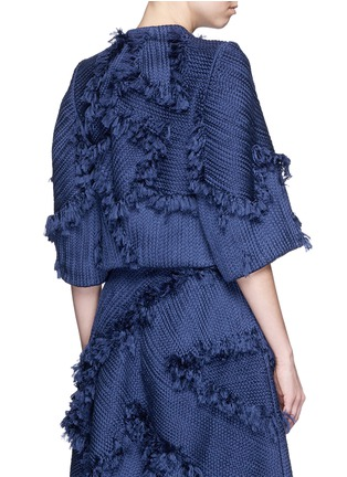 Back View - Click To Enlarge - Xu Zhi - 'Braid' frayed trim boxy top
