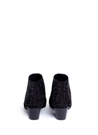 Back View - Click To Enlarge - Ash - 'Hypnotic' crystal suede booties