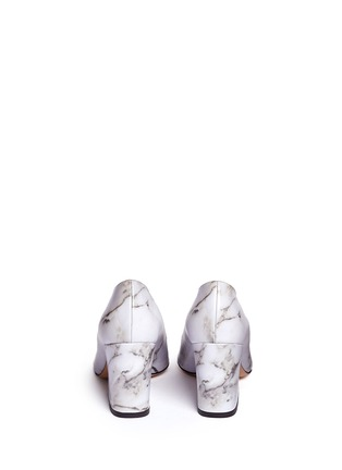 Back View - Click To Enlarge - Charlotte Olympia - 'Vendome' marble print leather pumps