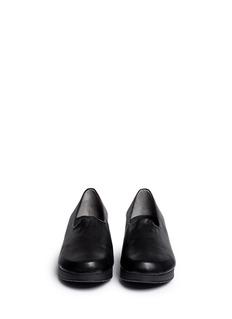 Robert Clergerie'Naloj' leather wedge platform slip-ons
